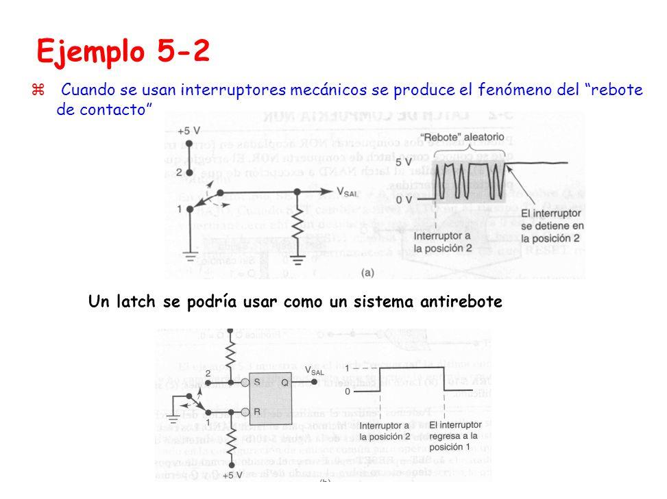 Ejemplo 5-2 Un latch se podría usar como un sistema antirebote