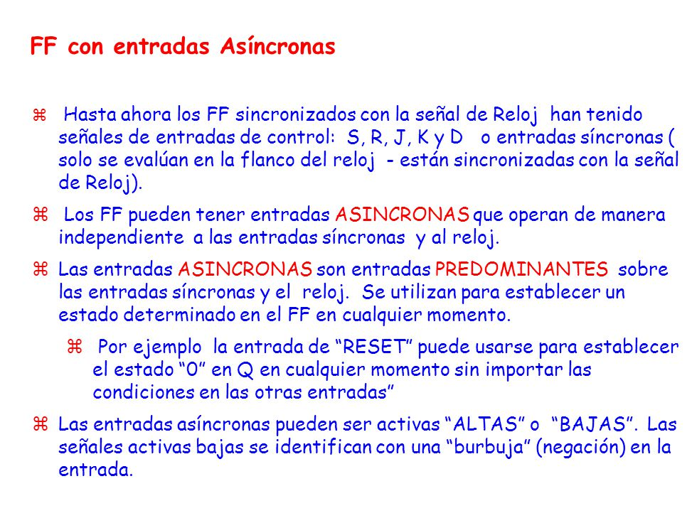 FF con entradas Asíncronas
