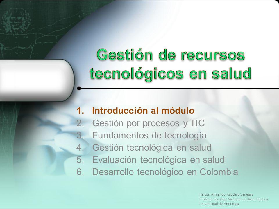 Gestión de recursos tecnológicos en salud