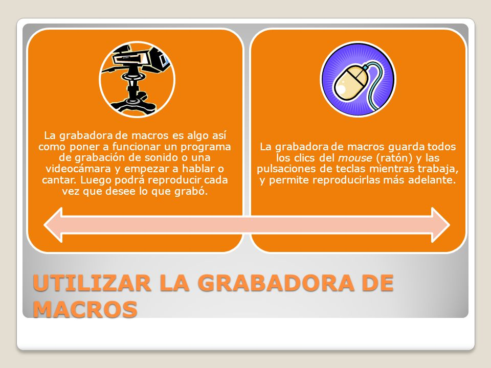 UTILIZAR LA GRABADORA DE MACROS
