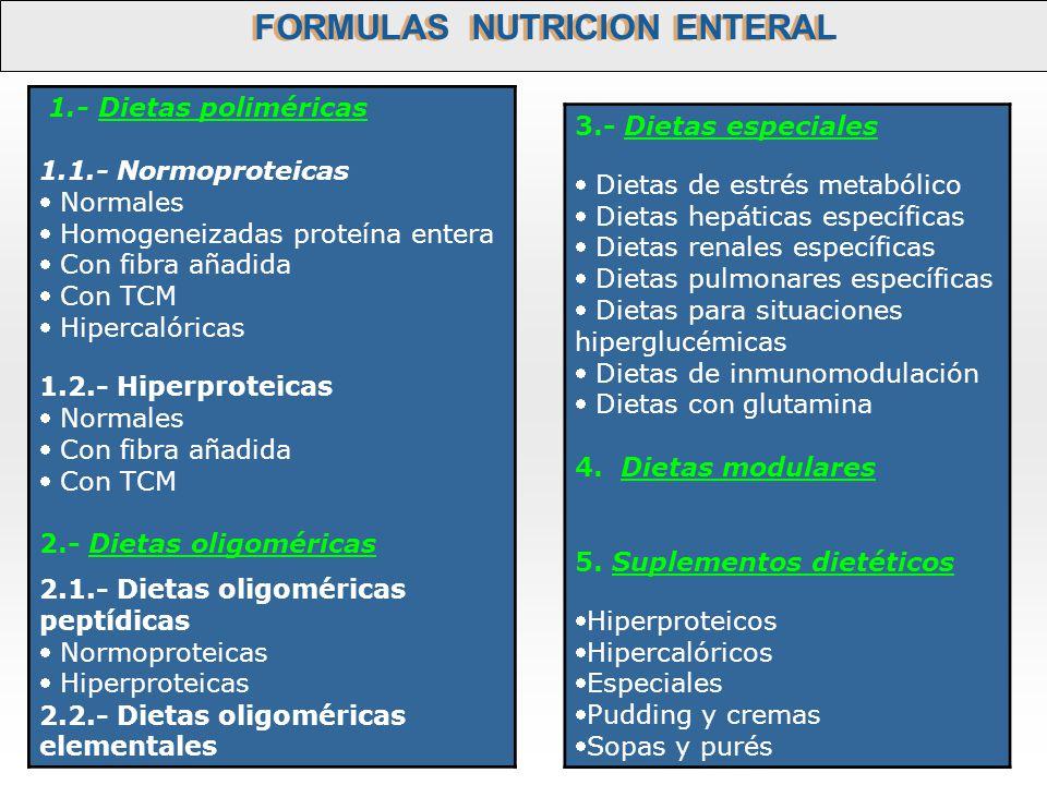 FORMULAS NUTRICION ENTERAL