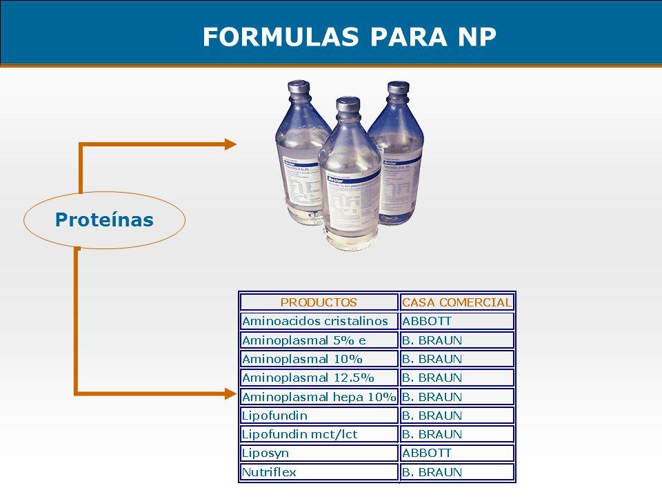FORMULAS PARA NP Proteínas