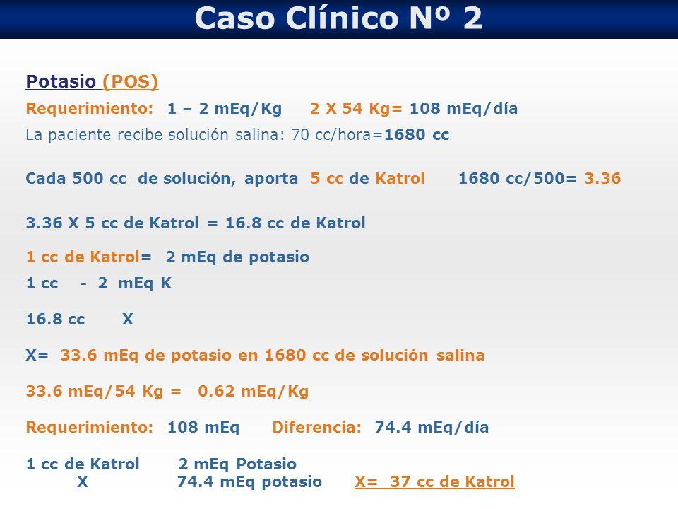 Caso Clínico Nº 2 Potasio (POS)