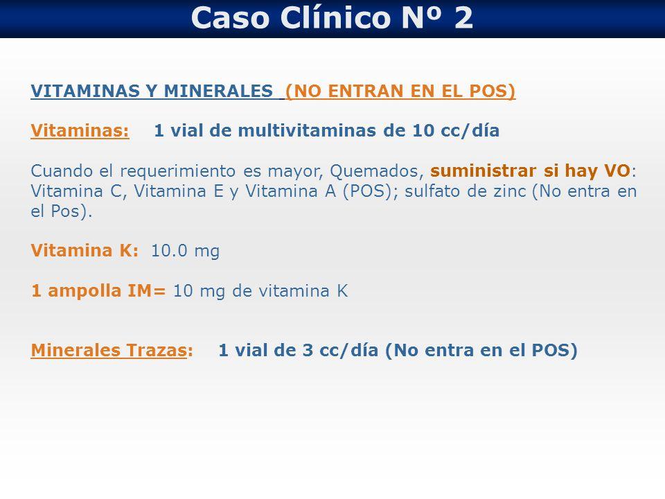 Caso Clínico Nº 2 VITAMINAS Y MINERALES (NO ENTRAN EN EL POS)