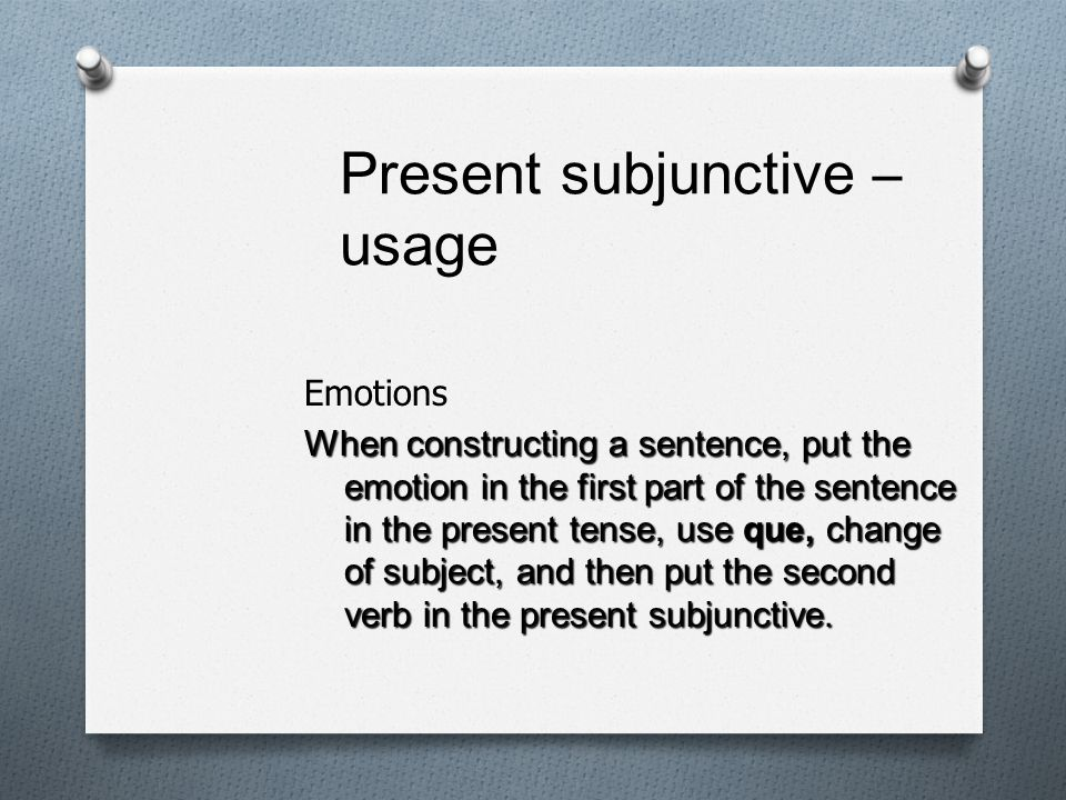 Present subjunctive – usage
