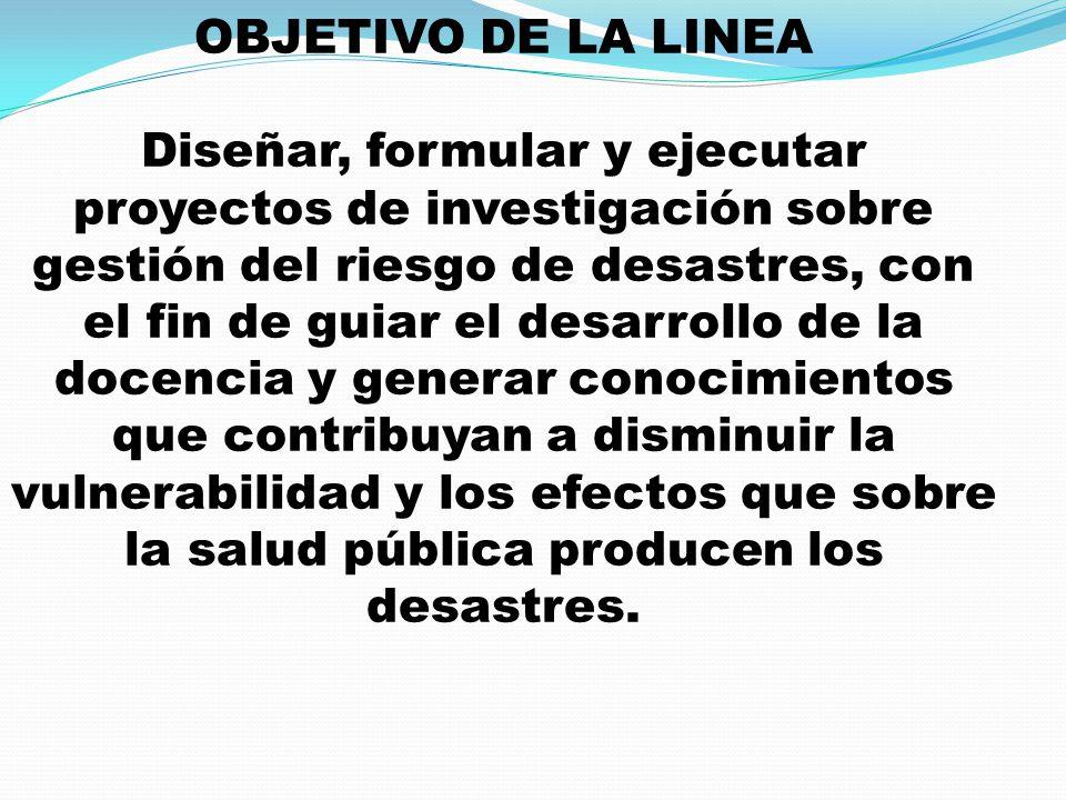 OBJETIVO DE LA LINEA