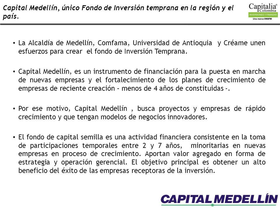Capital Medellín, único Fondo de Inversión temprana en la región y el país.