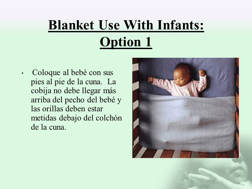 Blanket Use With Infants: Option 1
