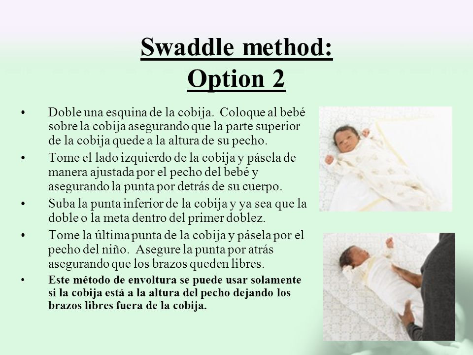 Swaddle method: Option 2