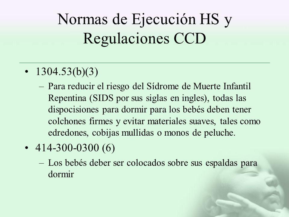 Normas de Ejecución HS y Regulaciones CCD