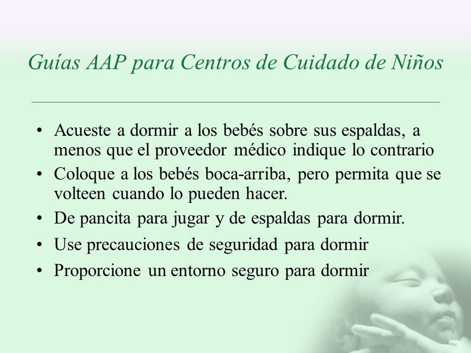 Guías AAP para Centros de Cuidado de Niños