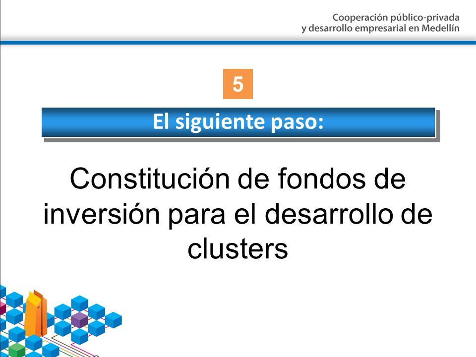 Constitución de fondos de inversión para el desarrollo de clusters