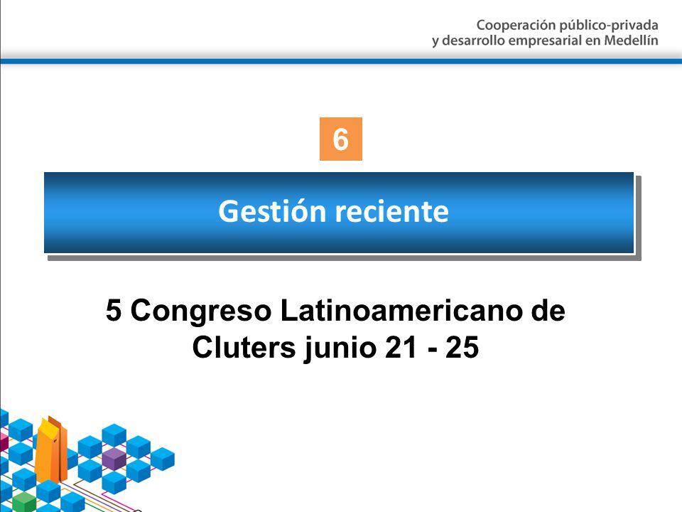 5 Congreso Latinoamericano de Cluters junio 21 - 25