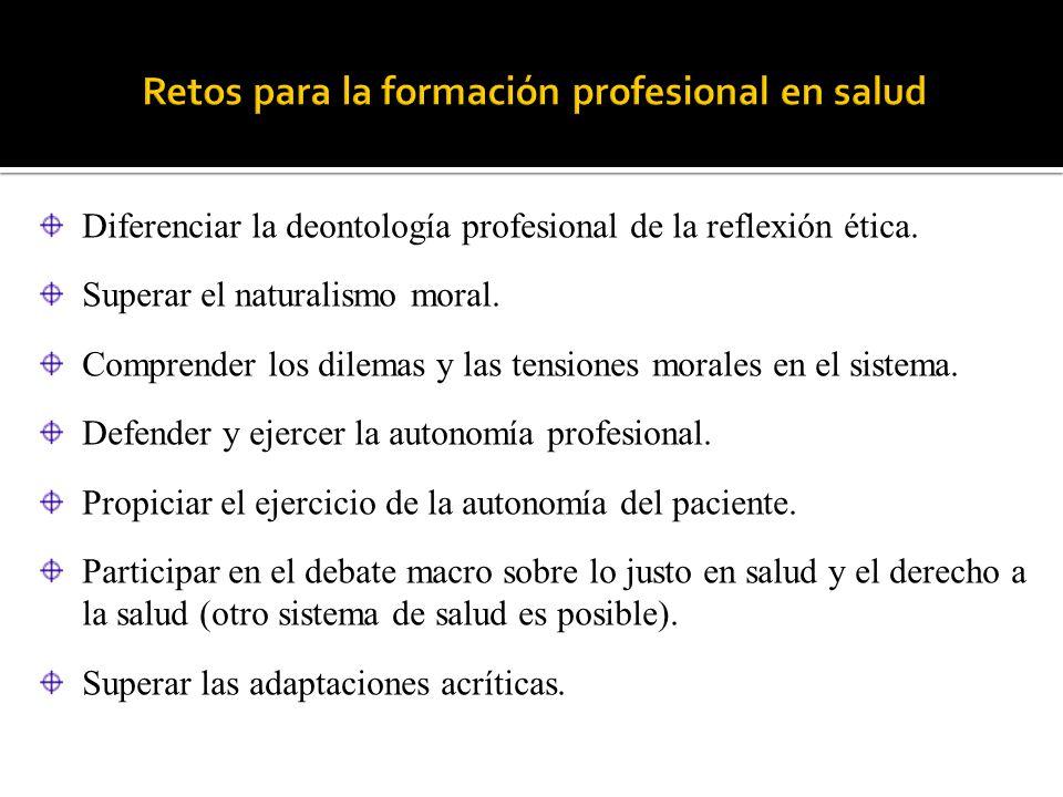Retos para la formación profesional en salud