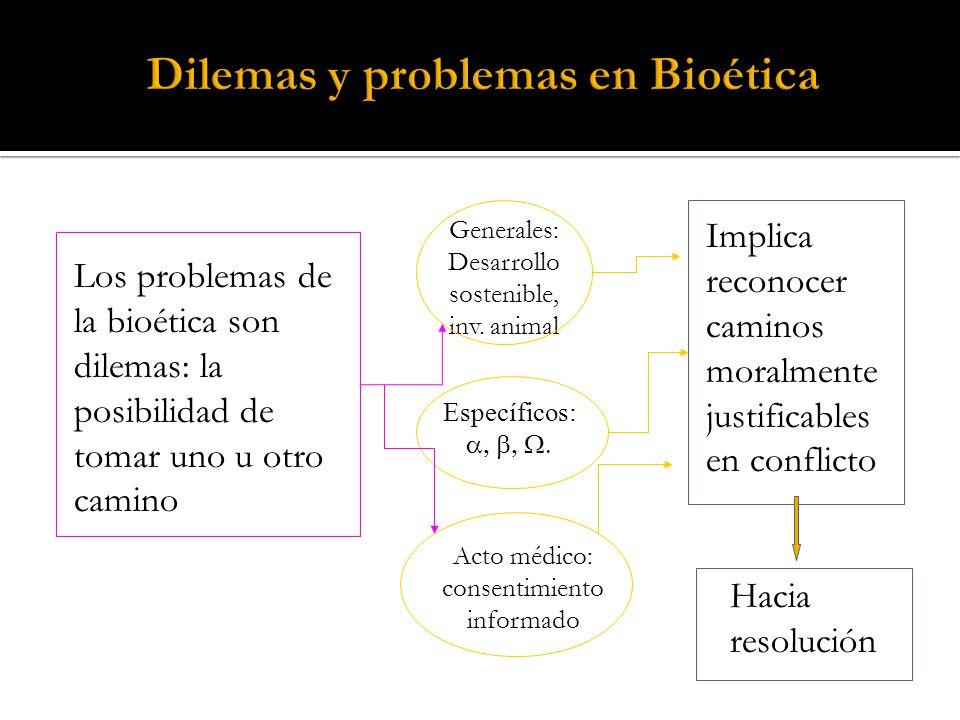 Dilemas y problemas en Bioética