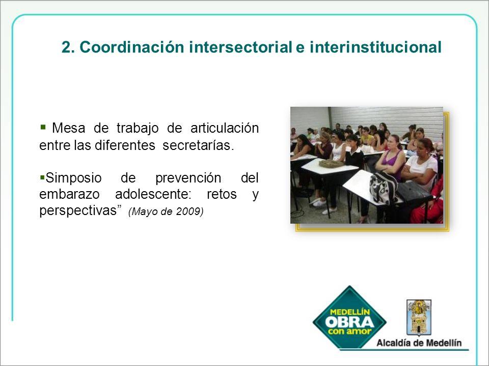 2. Coordinación intersectorial e interinstitucional
