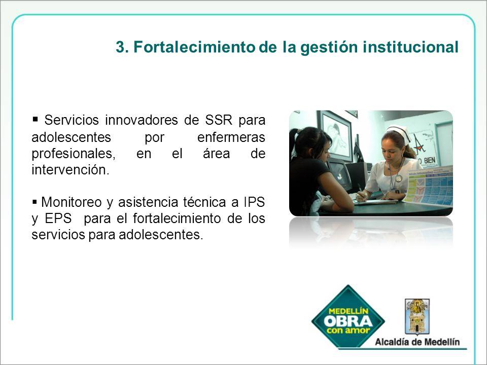 3. Fortalecimiento de la gestión institucional
