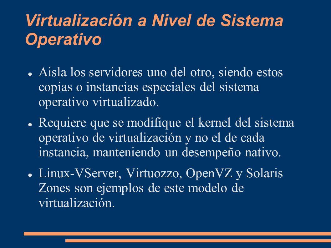 Virtualización a Nivel de Sistema Operativo