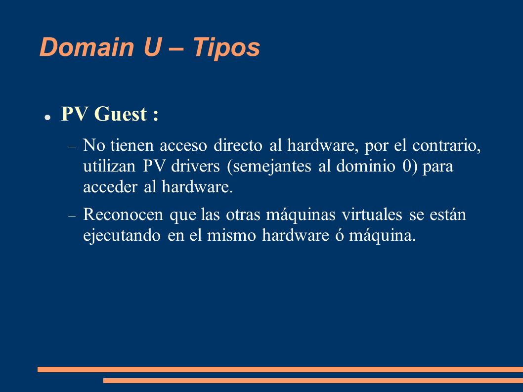 Domain U – Tipos PV Guest :
