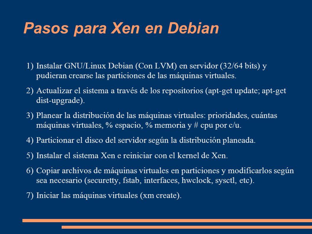 Pasos para Xen en Debian