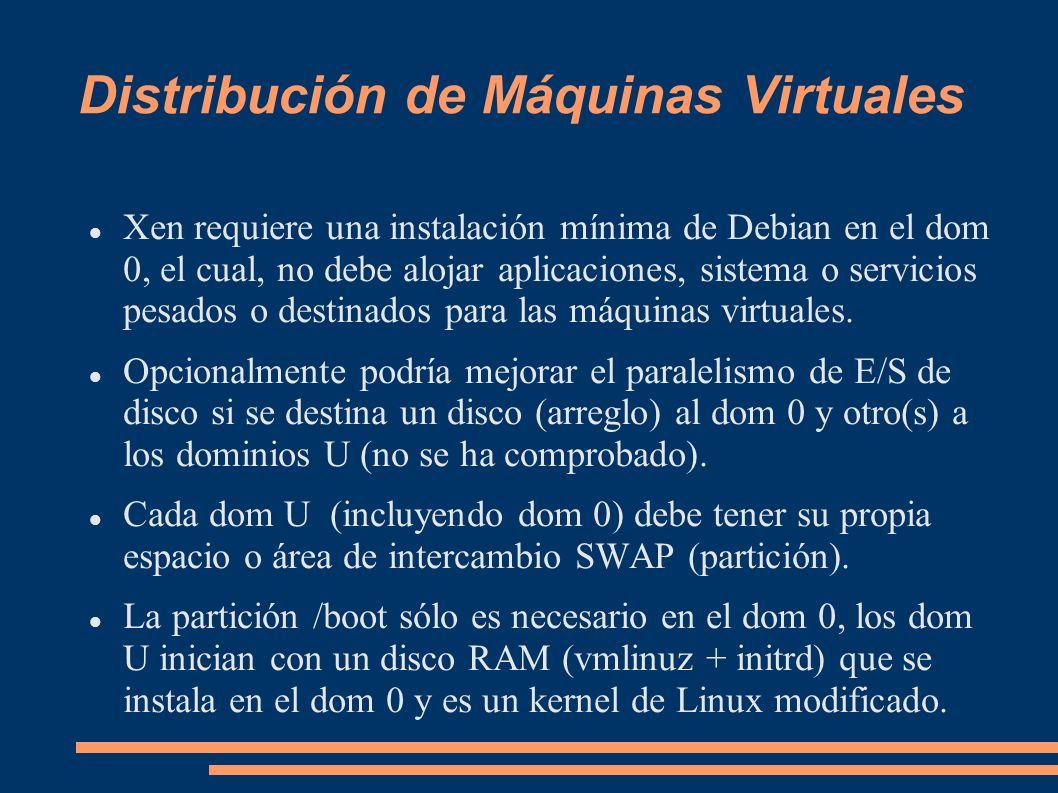 Distribución de Máquinas Virtuales
