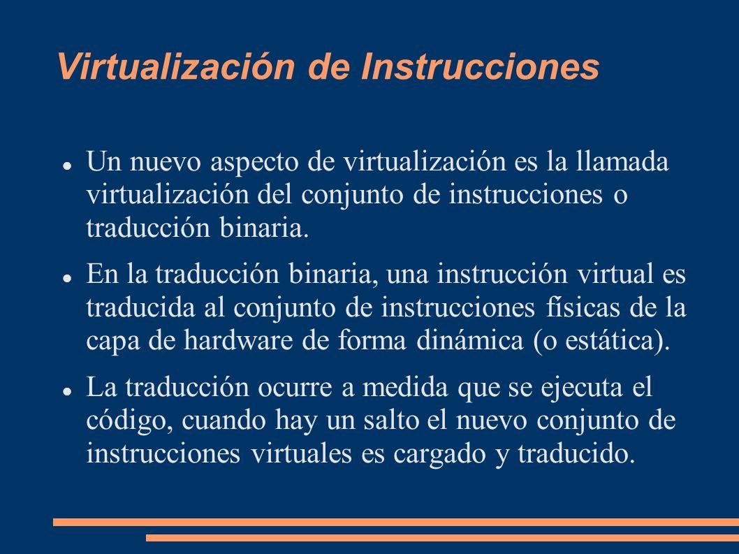 Virtualización de Instrucciones