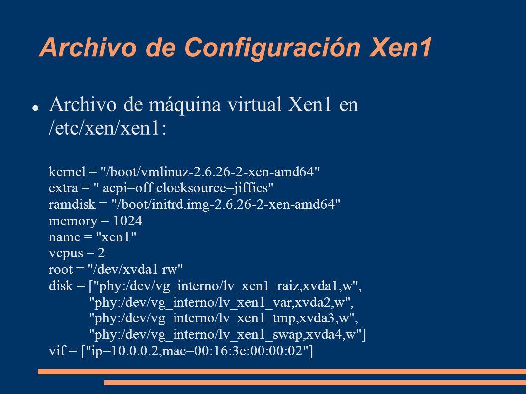 Archivo de Configuración Xen1