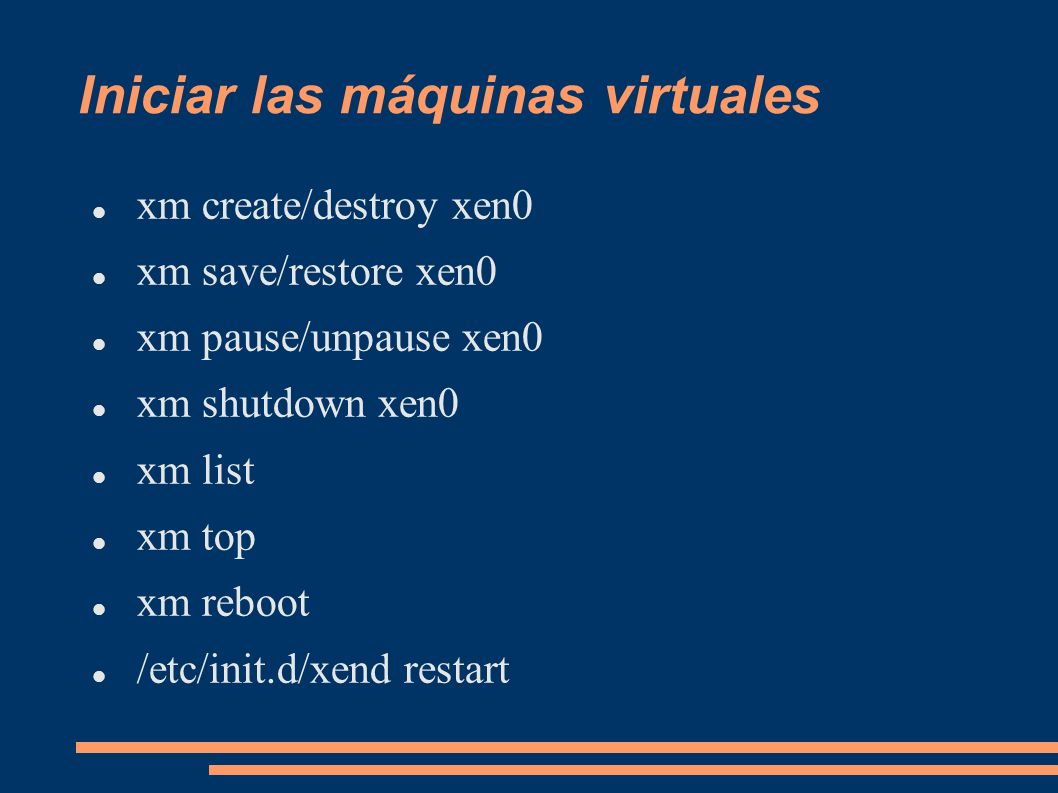 Iniciar las máquinas virtuales