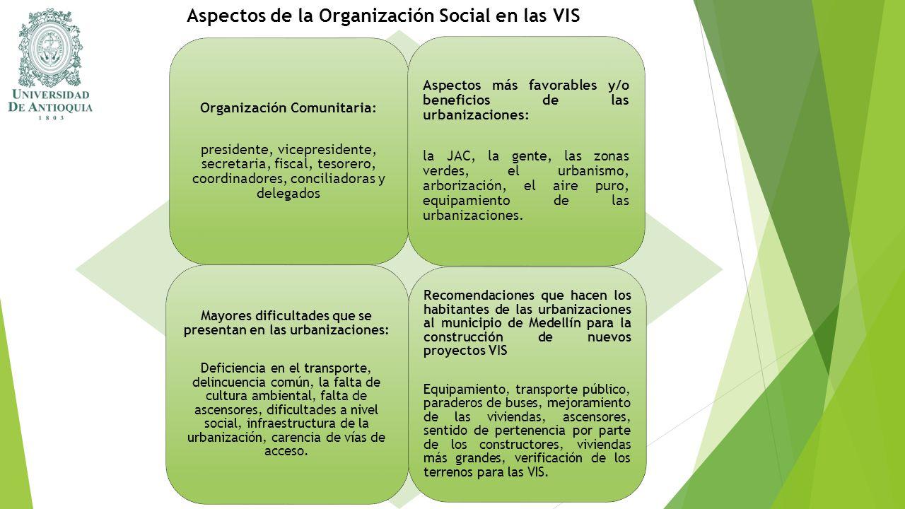 Aspectos de la Organización Social en las VIS
