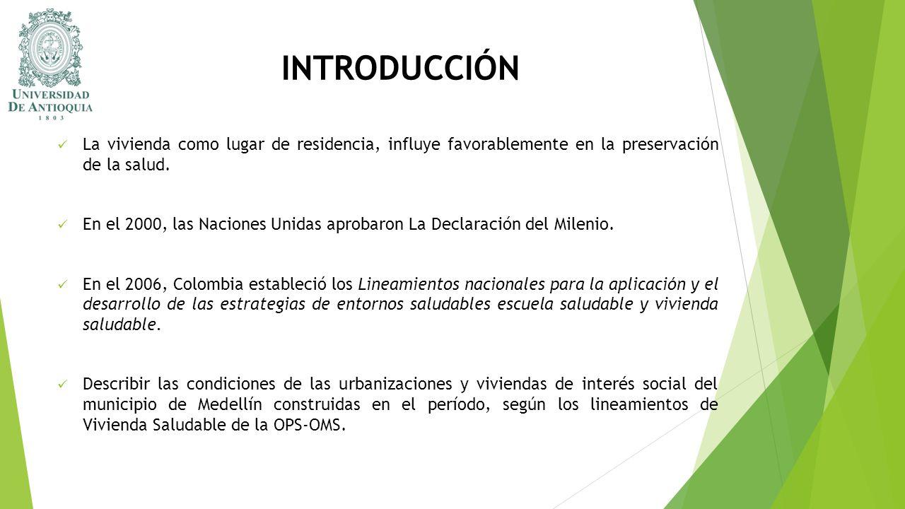 INTRODUCCIÓN La vivienda como lugar de residencia, influye favorablemente en la preservación de la salud.
