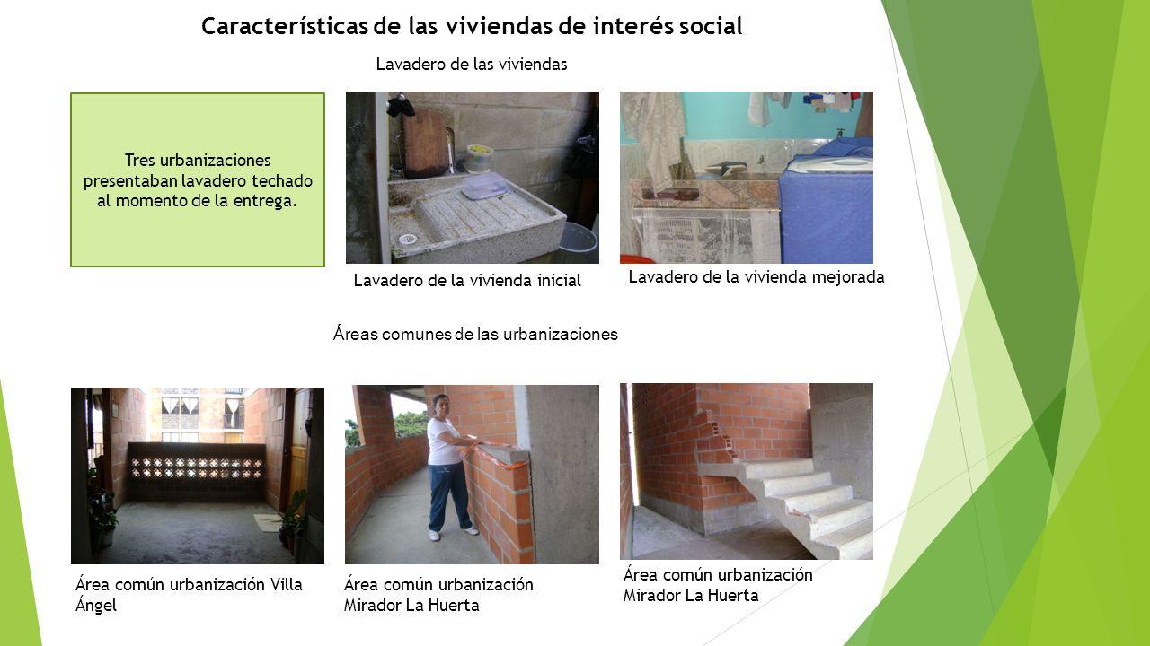 Características de las viviendas de interés social