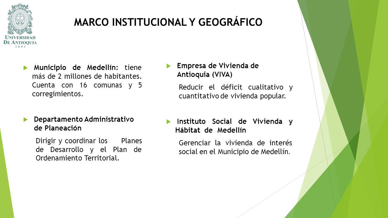MARCO INSTITUCIONAL Y GEOGRÁFICO