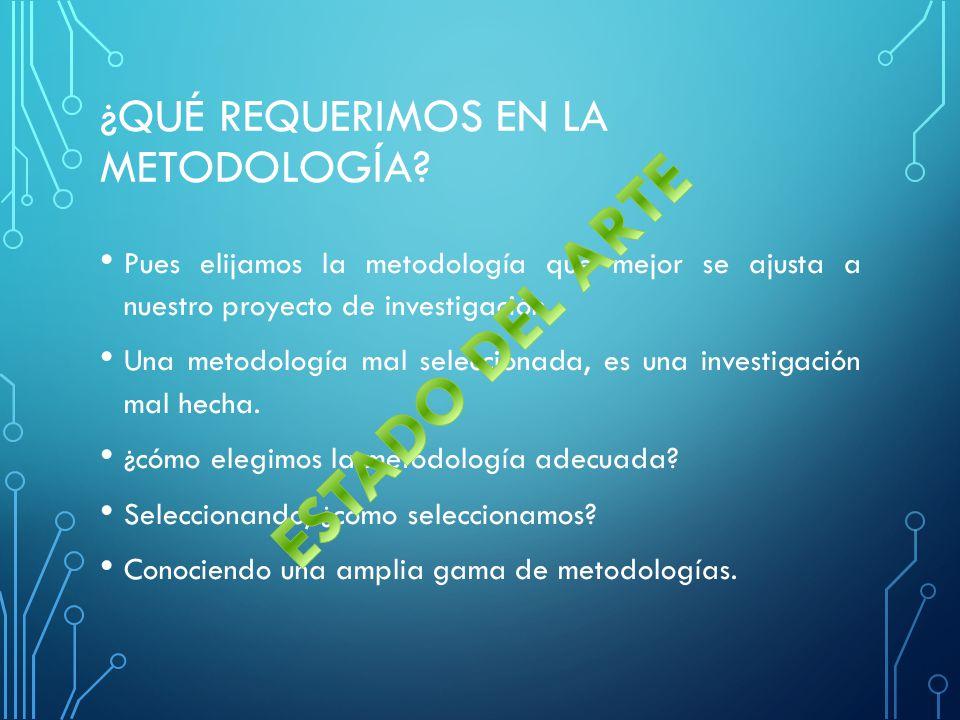 ¿Qué requerimos en la metodología