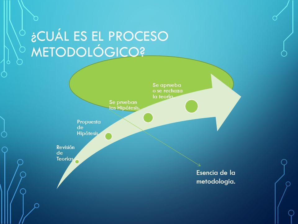 ¿CUÁL ES EL PROCESO METODOLÓGICO