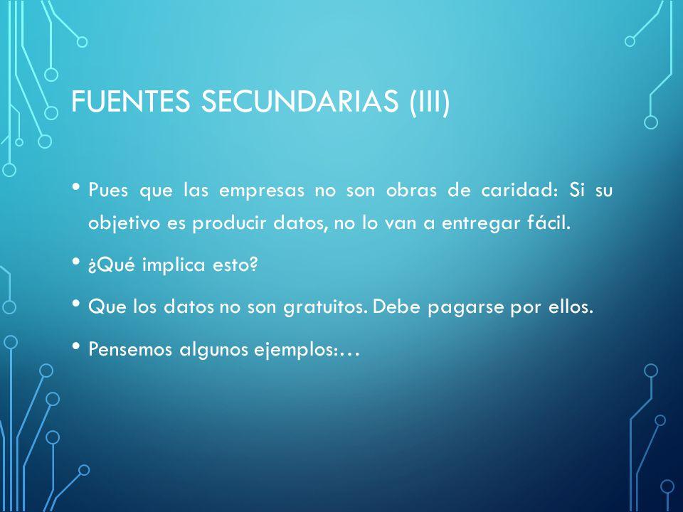 FUENTES SECUNDARIAS (iii)