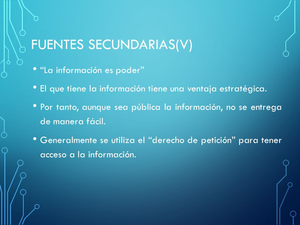 FUENTES SECUNDARIAS(v)