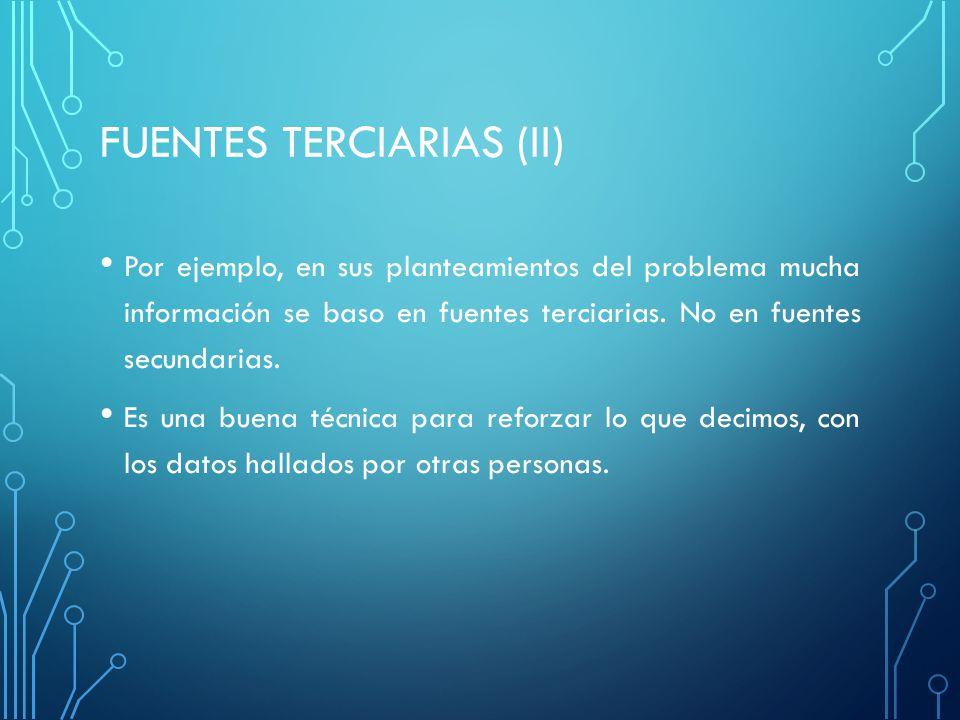 FUENTES TERCIARIAS (ii)