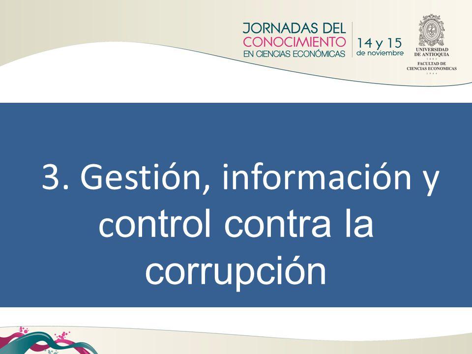3. Gestión, información y control contra la corrupción