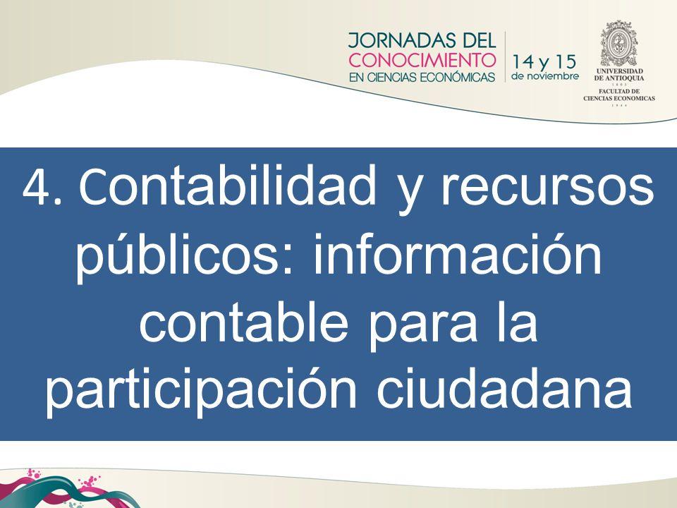 4. Contabilidad y recursos públicos: información contable para la participación ciudadana