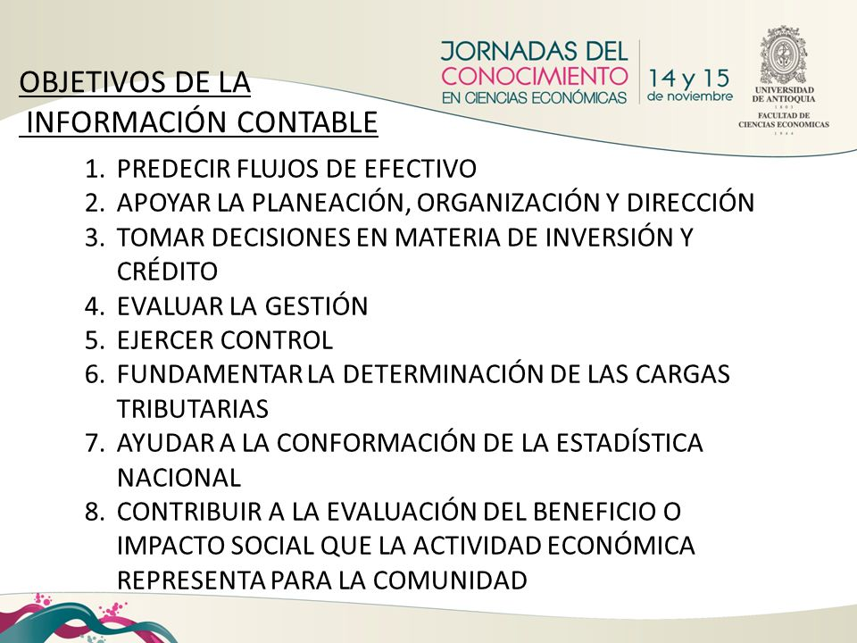 OBJETIVOS DE LA INFORMACIÓN CONTABLE PREDECIR FLUJOS DE EFECTIVO
