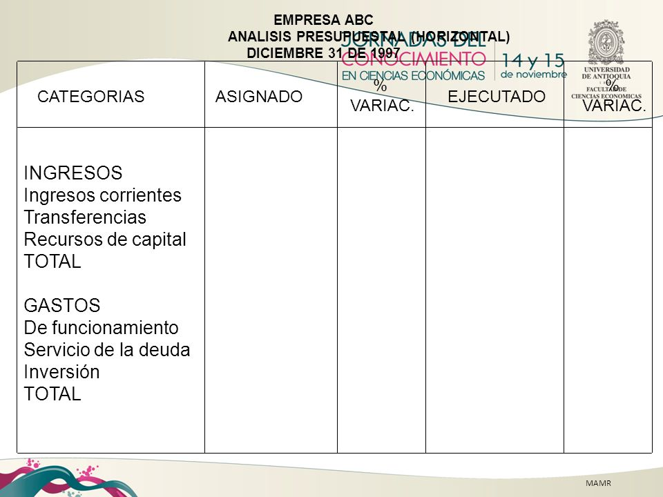 INGRESOS Ingresos corrientes Transferencias Recursos de capital TOTAL