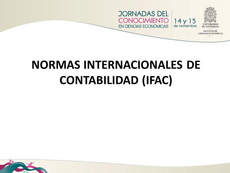 NORMAS INTERNACIONALES DE CONTABILIDAD (IFAC)
