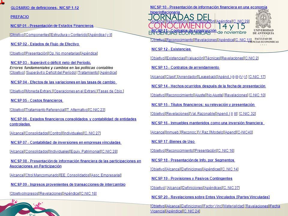 GLOSARIO de definiciones- NICSP 1-12