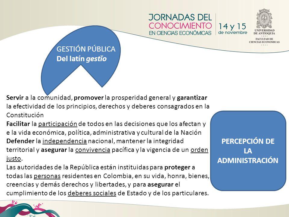PERCEPCIÓN DE LA ADMINISTRACIÓN
