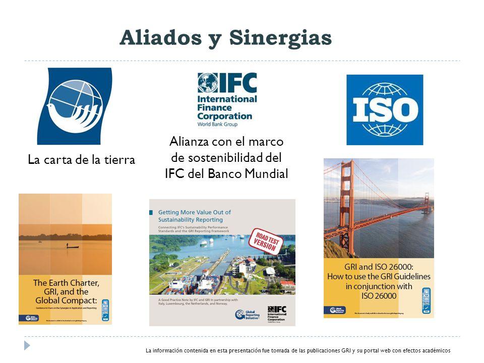 Alianza con el marco de sostenibilidad del IFC del Banco Mundial
