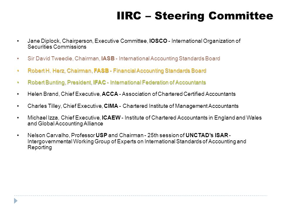 IIRC – Steering Committee