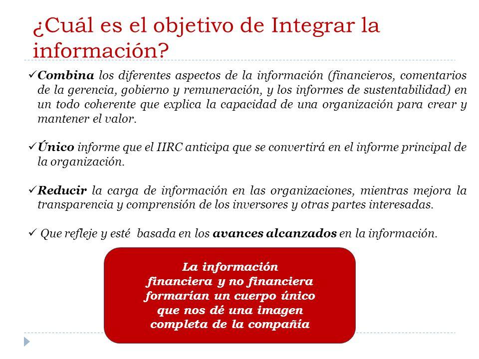 ¿Cuál es el objetivo de Integrar la información