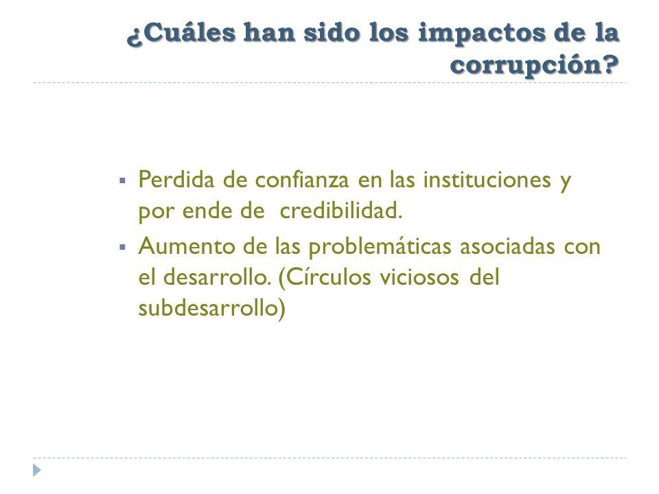 ¿Cuáles han sido los impactos de la corrupción
