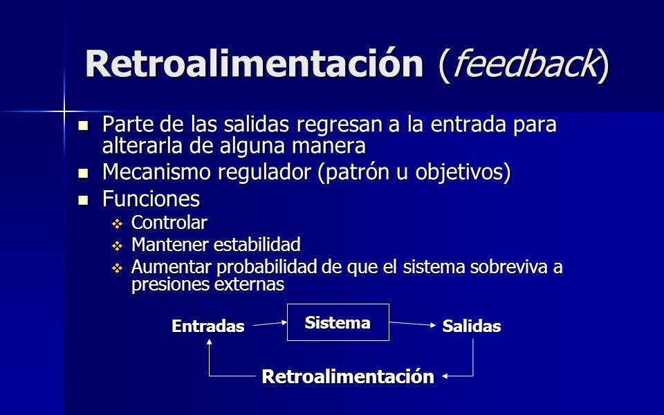 Retroalimentación (feedback)