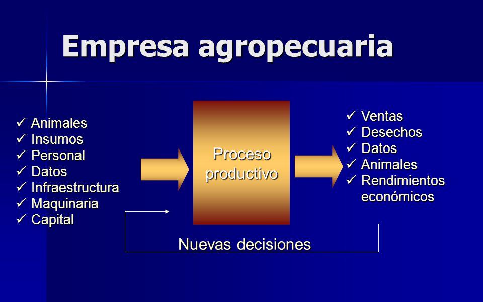 Empresa agropecuaria Proceso productivo Nuevas decisiones Ventas